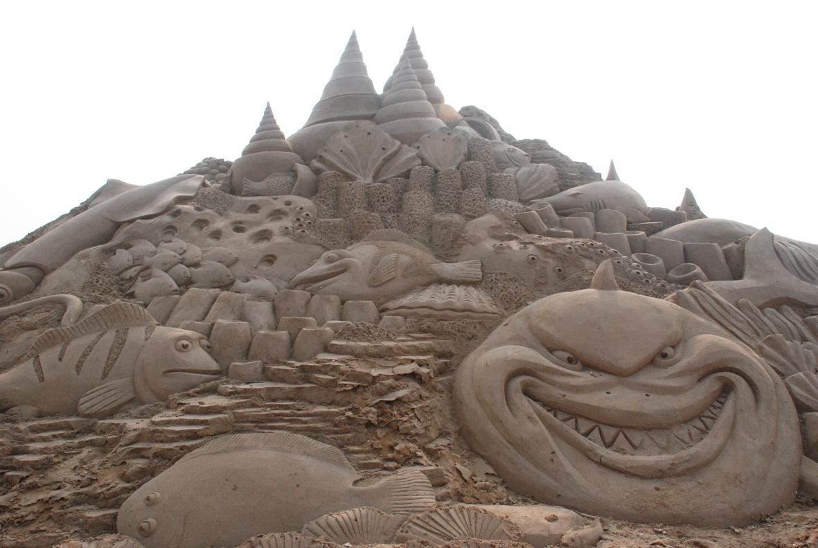 大雁景观雕塑手绘